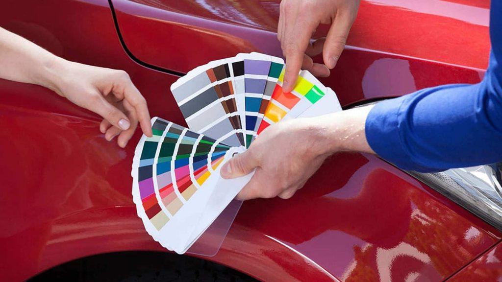 انتخاب رنگ خودرو